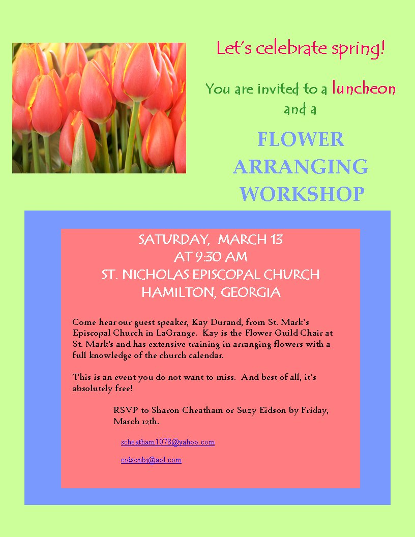 flower guild workshop
