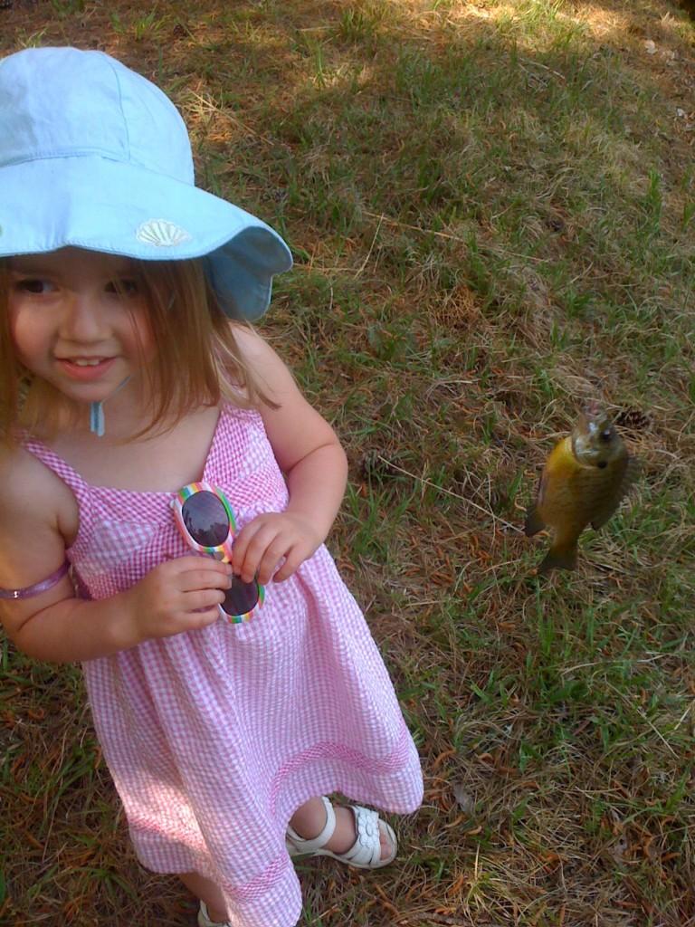 Bronwyn with a fish