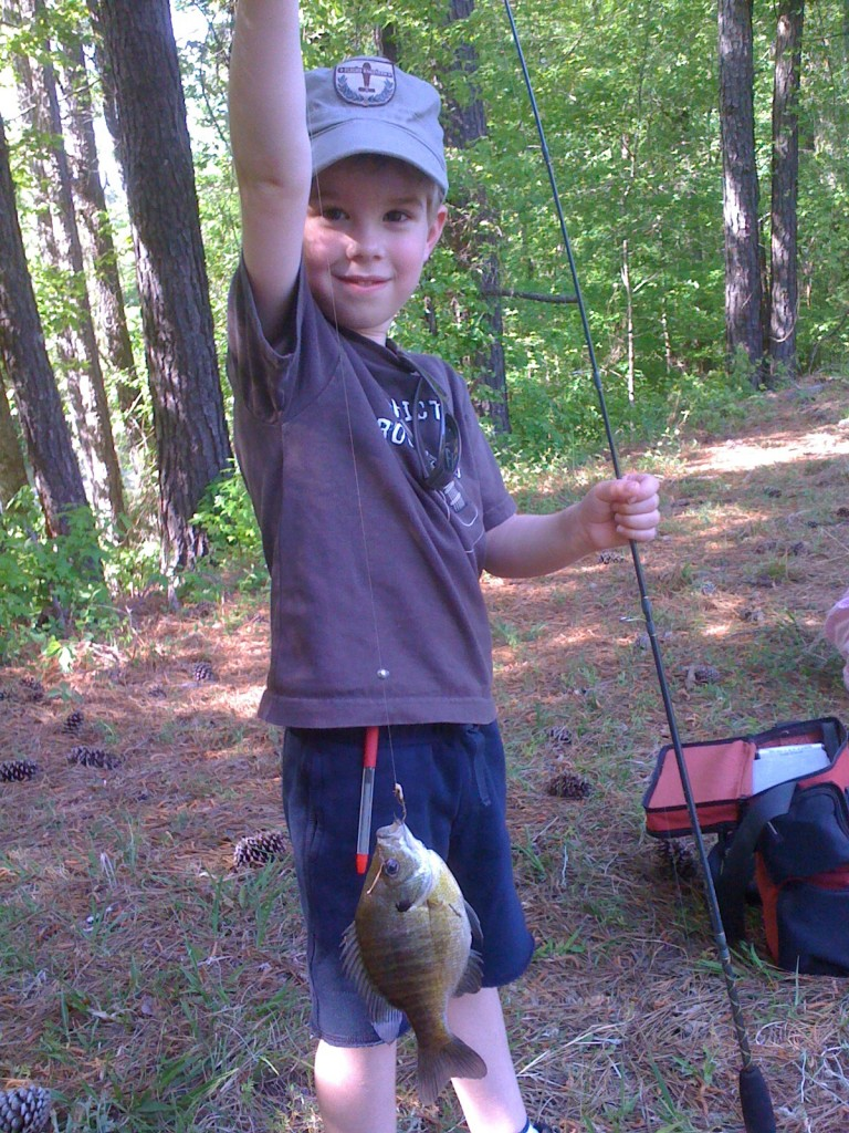 Tai's first fish