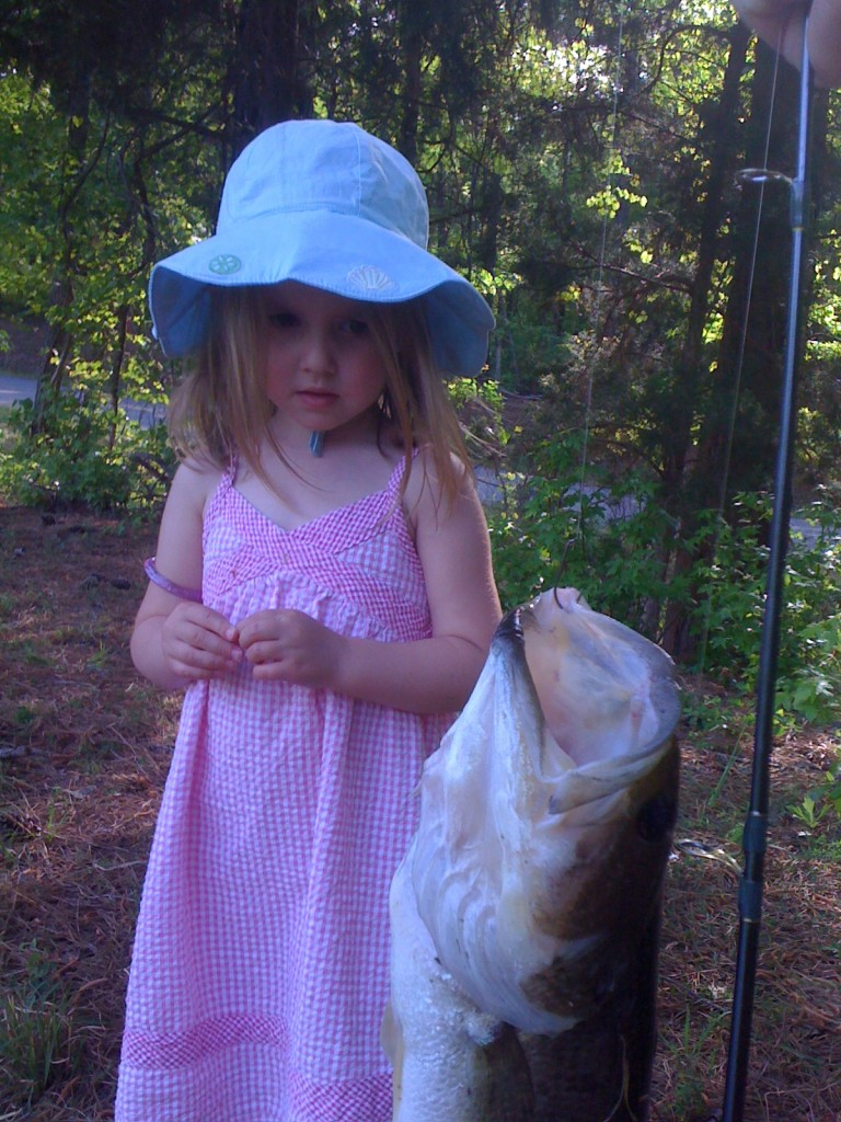 Bronwyn's first fish is a little scary.