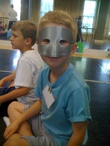 Tai got to wear a mask!
